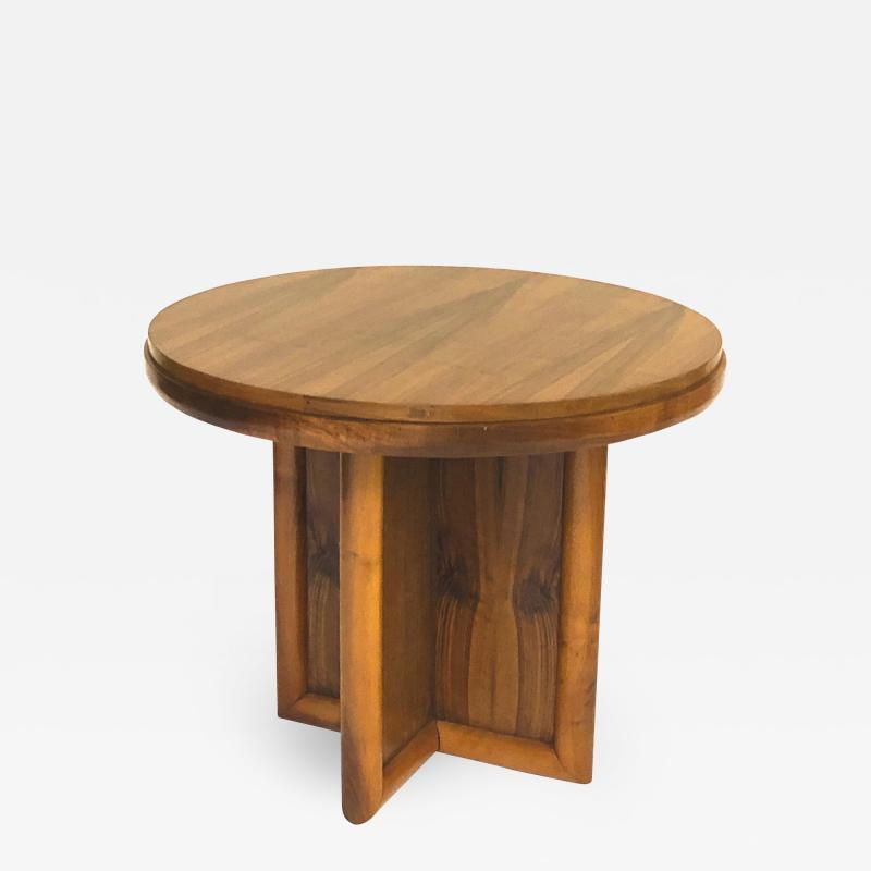 Jean Roy re jean Royere for gouffe rare coffee table with sturdy cylinder accent base