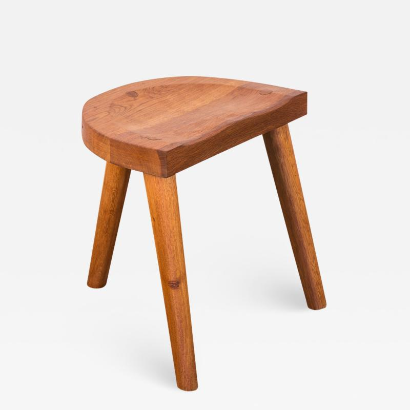 Jean Touret Jean Touret Oak Stool for Marolles