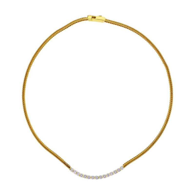 Jean Vitau Gemlok Gemveto Diamond Necklace