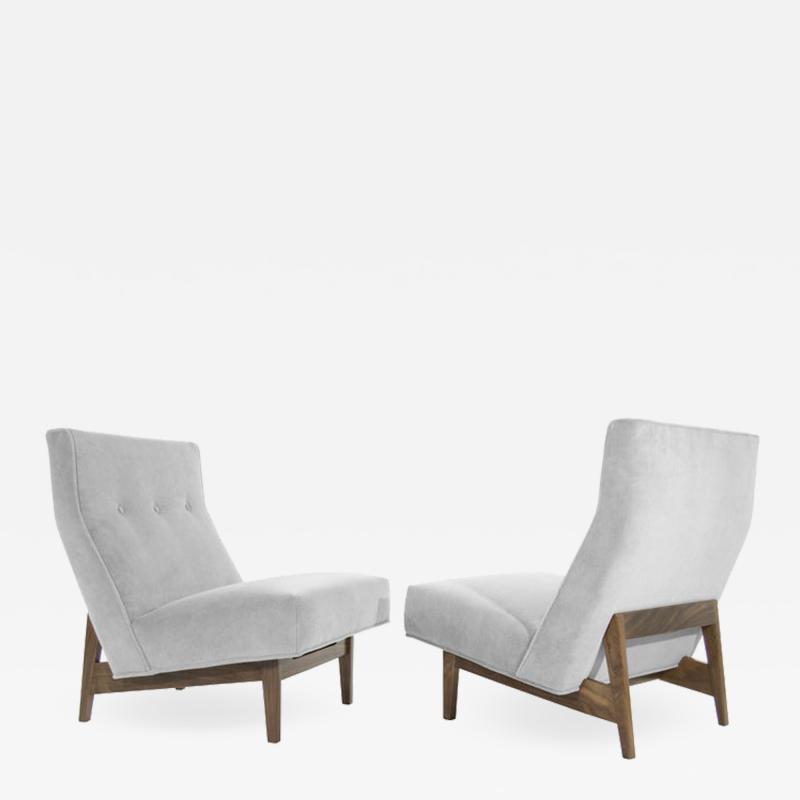 Jens Risom Classic Slipper Chairs by Jens Risom circa 1950s