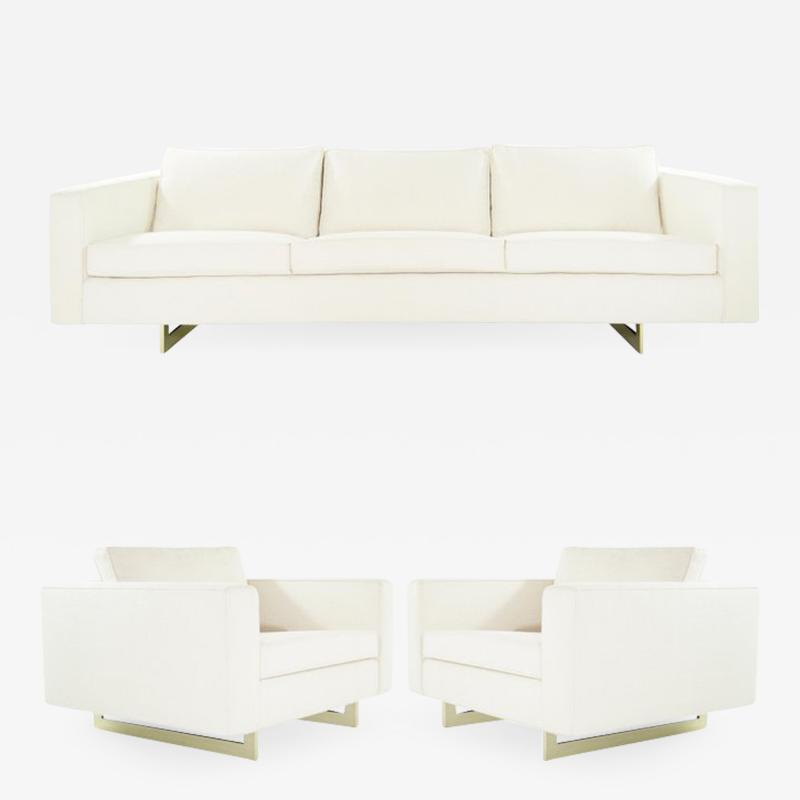 Jens Risom Important Series 65 Sofa and Lounge Chairs Set by Jens Risom circa 1950s