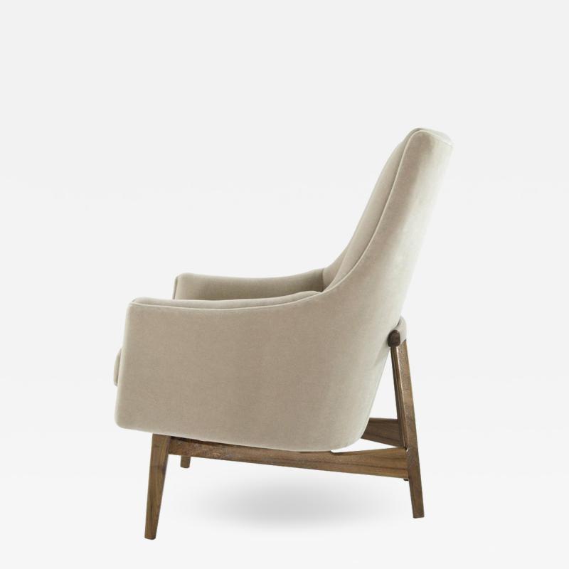 Jens Risom Jens Risom A Line Lounge Chair Model 2136