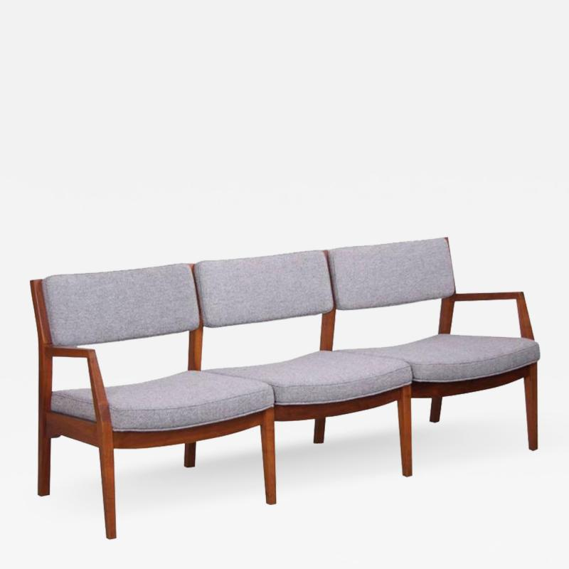 Jens Risom Jens Risom Three Seat Sofa by Jens Risom Inc in Solid Walnut
