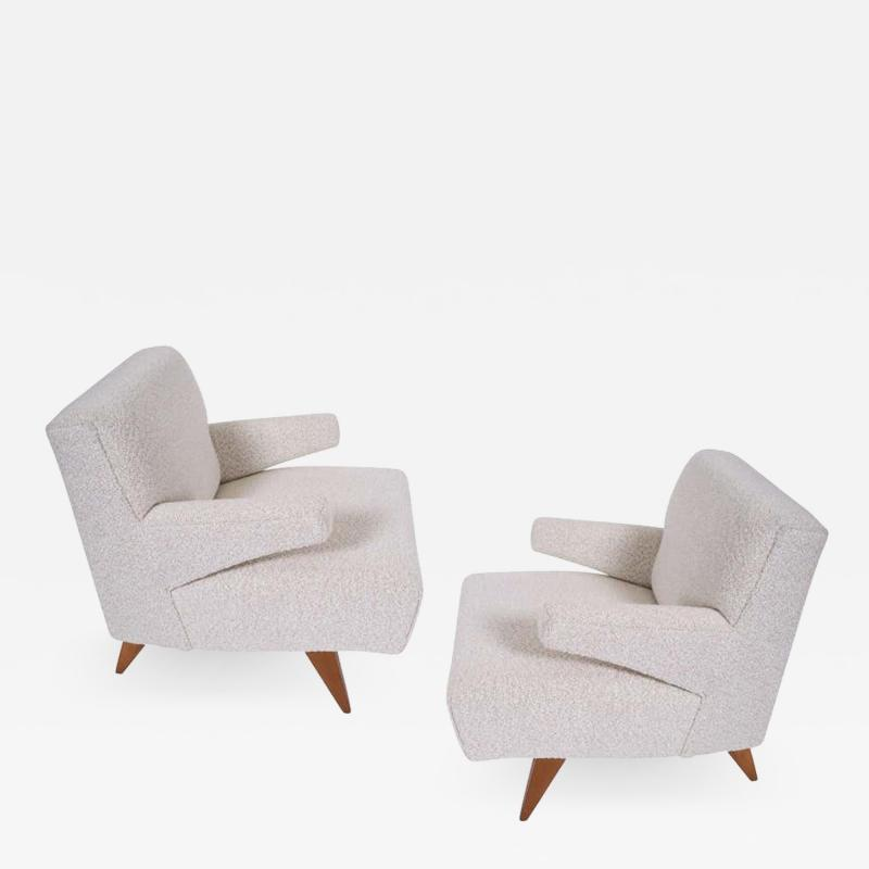 Jens Risom Paddle Arm Lounge Chairs