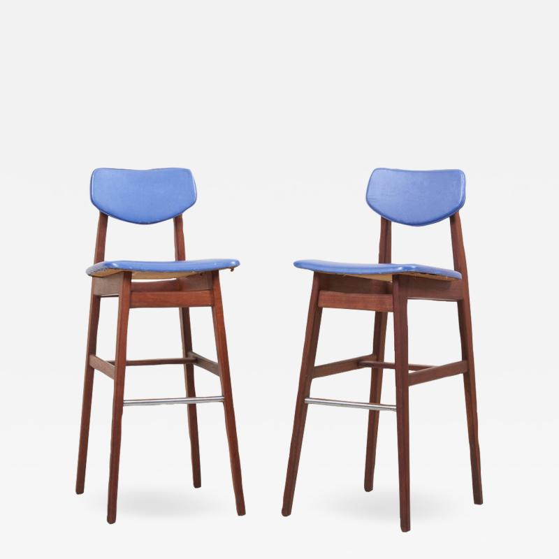 Jens Risom Pair of Bar Stools by Jens Risom US 1960s