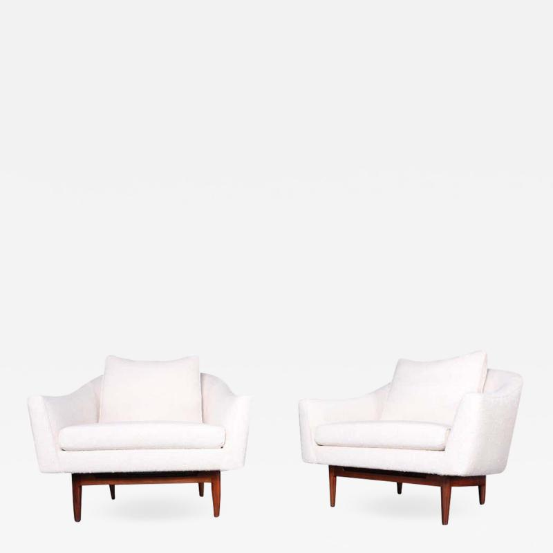 Jens Risom Pair of Lounge Chairs by Jens Risom