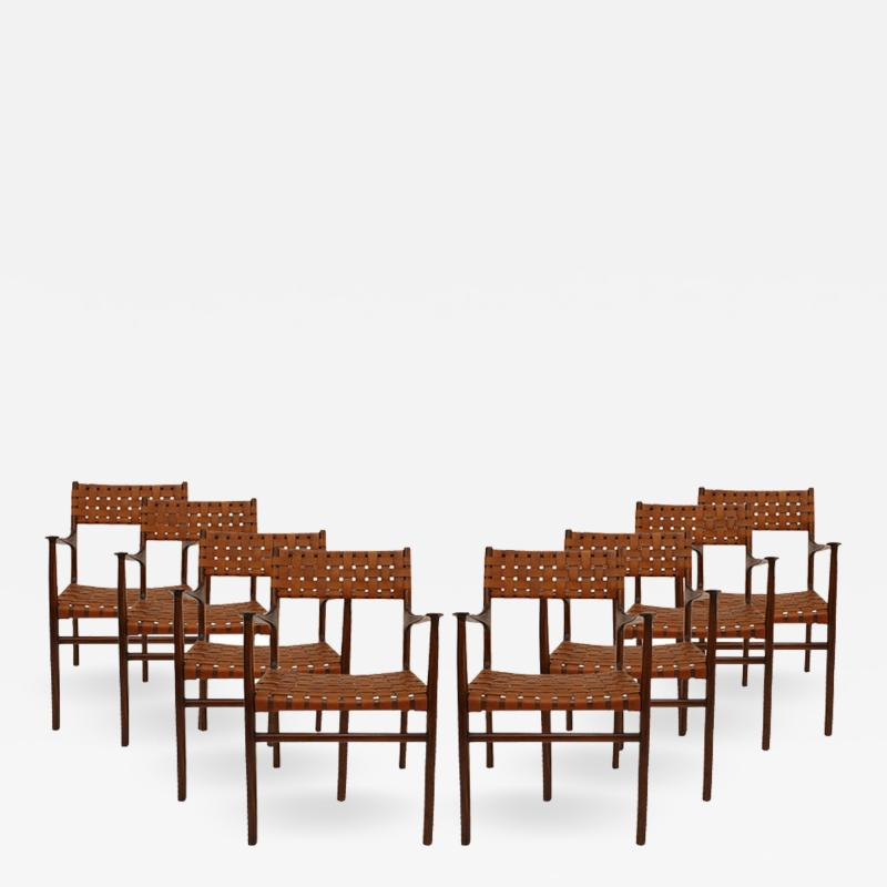 Jens Risom Set of Eight Chairs Designed by Jens Risom