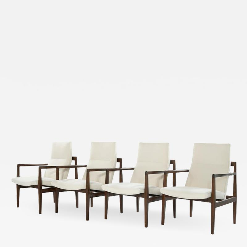 Jens Risom Set of Four Lounge Chairs by Jens Risom c 1960s