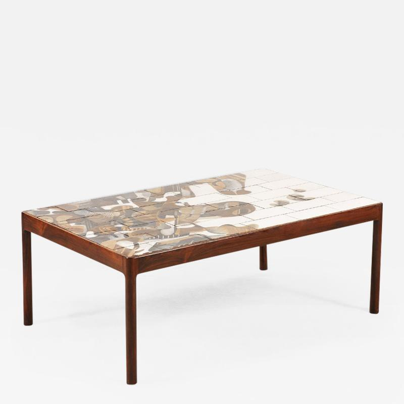 Jeppe Hagedorn Olsen Jeppe Hagedorn Olsen Large Coffee Table with Ceramic Tiles 1960