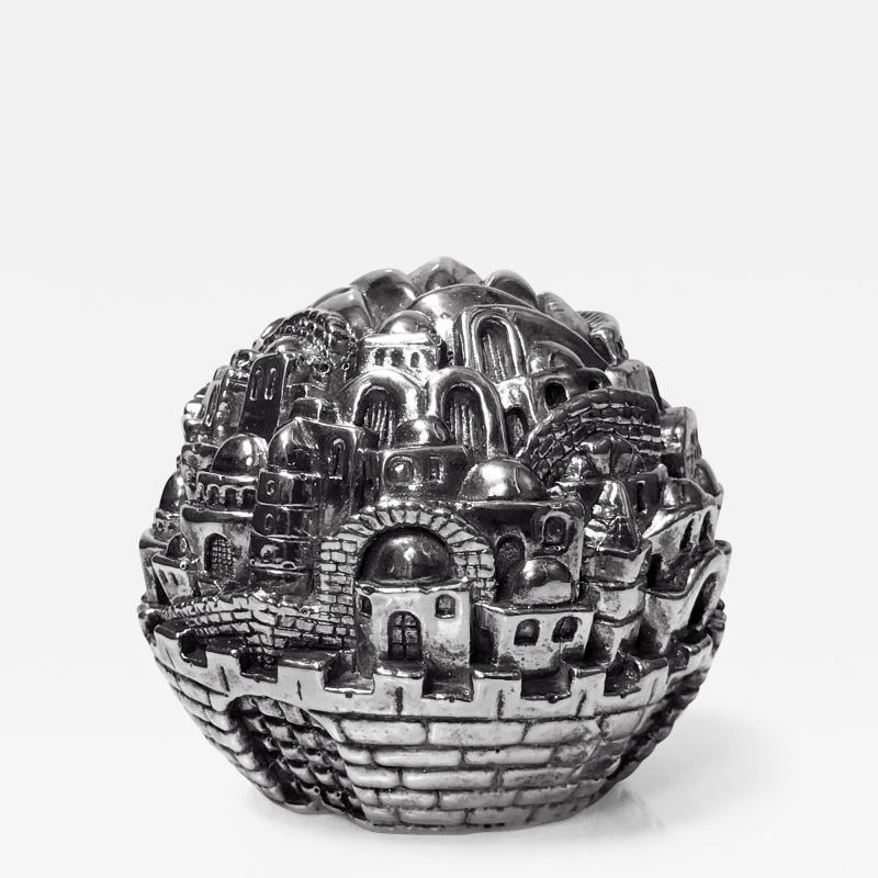 Jerusalem Sterling Sculpture Paperweight Sam Philipe