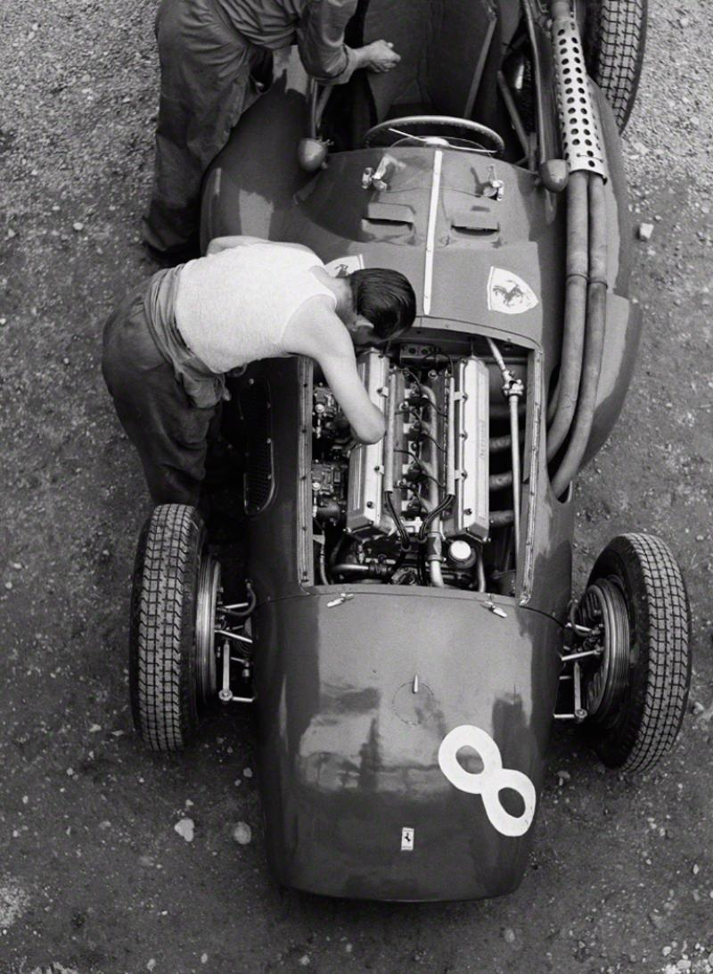 Jesse Alexander Ferrari Mechanic Reims 1954