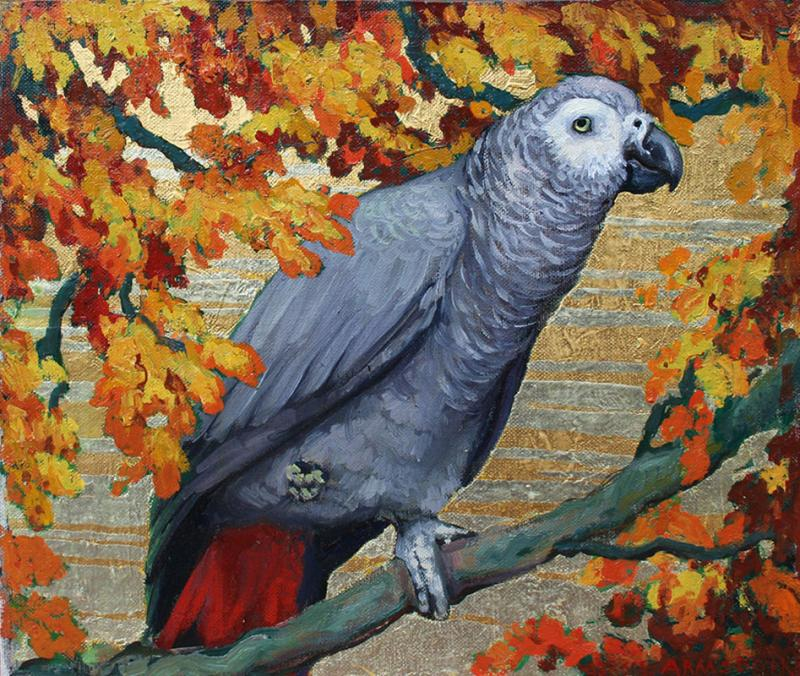 Jessie Arms Botke African Grey Parrot