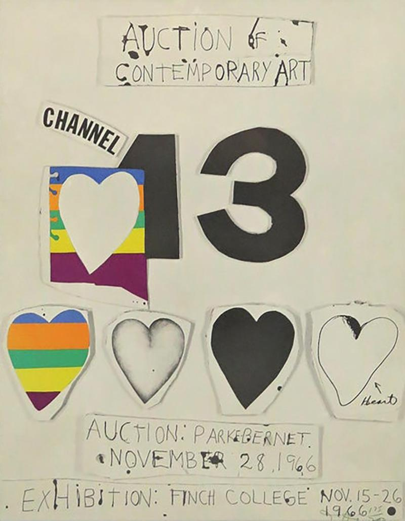 Jim Dine I Love Public Television for Channel 13 by Jim Dine