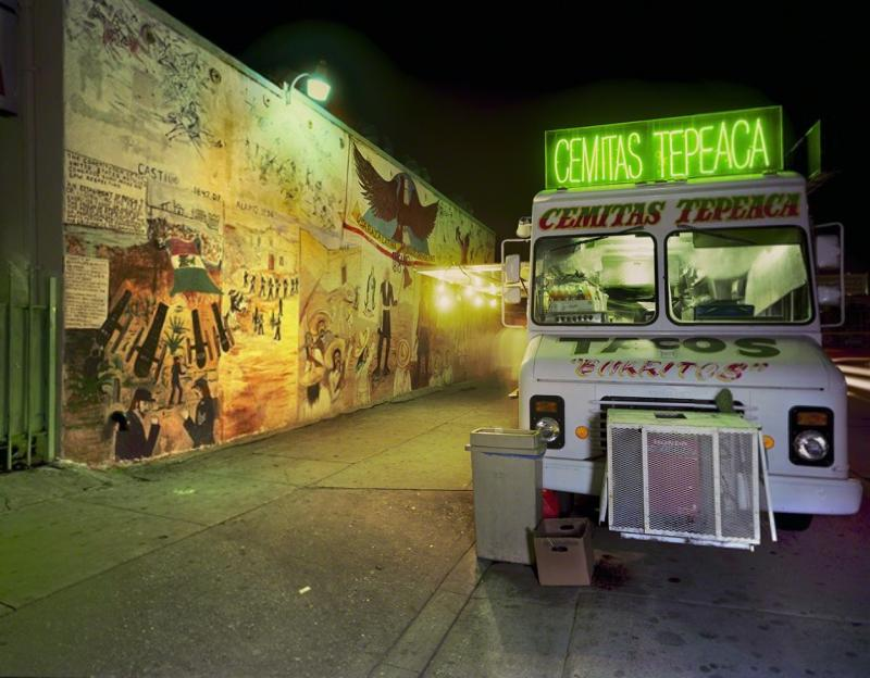 Jim Dow Cemitas Tepeaca Taco Truck Five Points East Los Angeles California 2008