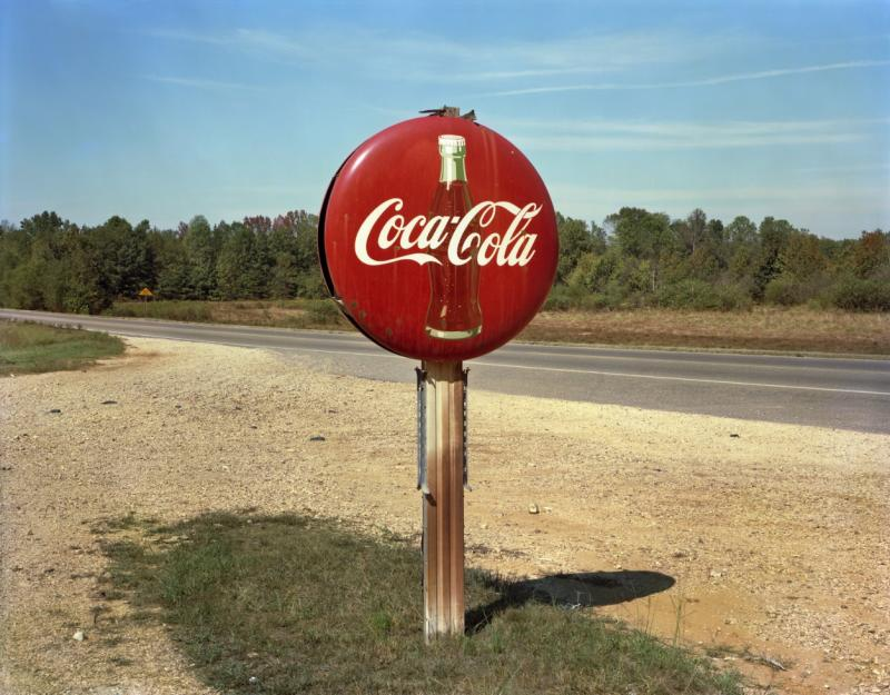 Jim Dow Coca Cola Sign on Highway US 78 Burnsville Mississippi 1978