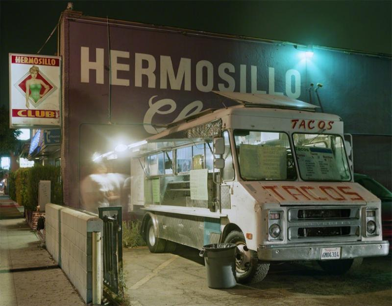 Jim Dow Taco Truck Outside a Club Highland Park Los Angeles California 2009