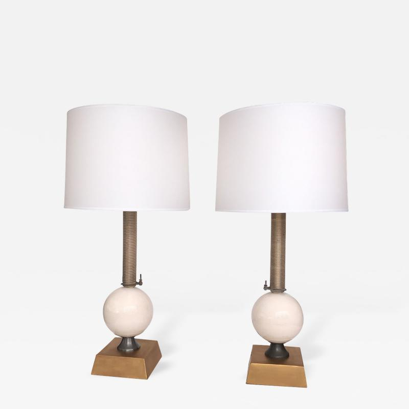 Jim Misner A Pair of American Custom Made Industrial Style Lamps by Jim Misner