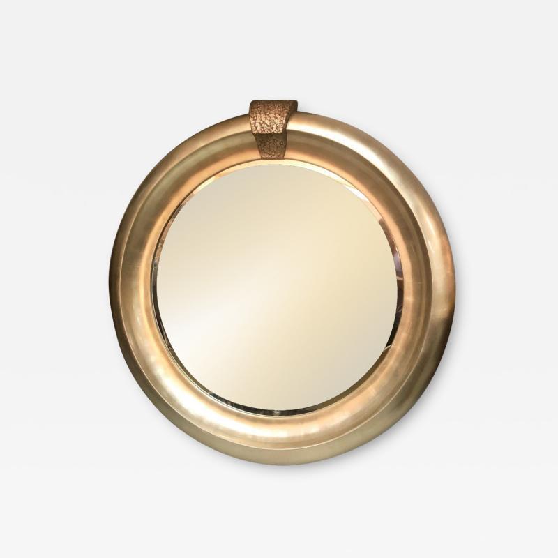 Jimeco Ltd Monumental Silver Round Mirror by Jimeco 1996