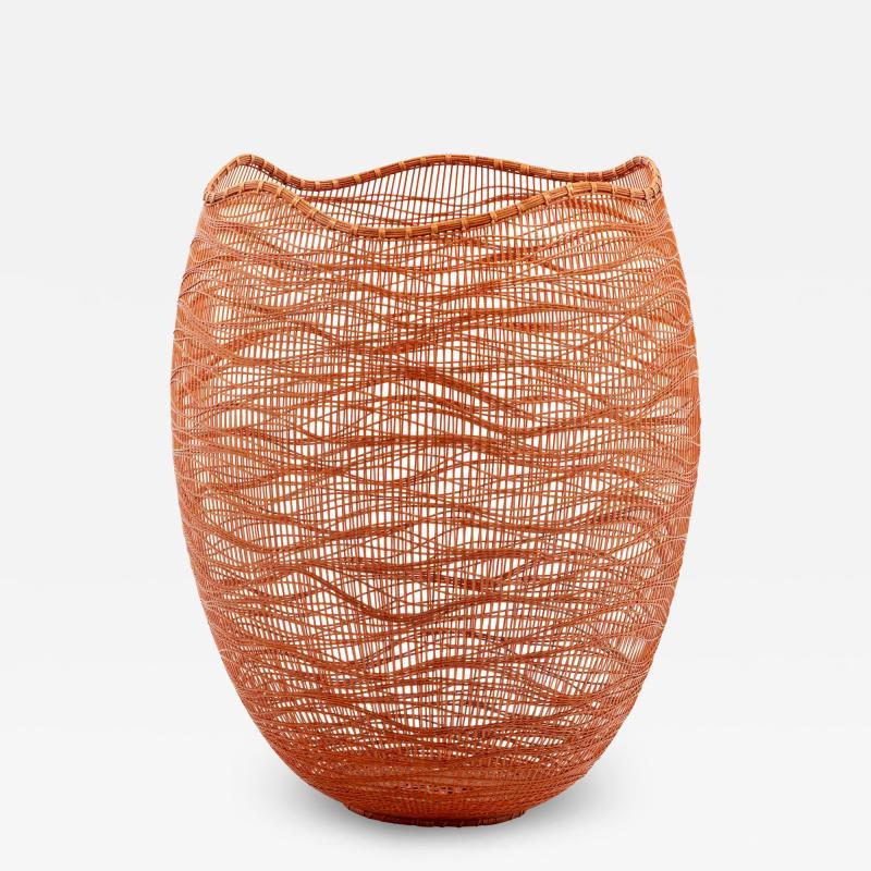 Jin Morigami Contemporary Japanese Bamboo Sculptural Basket Morikami Jin