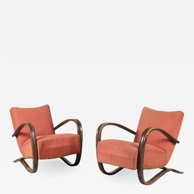 Jindrich Halabala Pair of Jindrich Halabala H 269 Chairs for Up Zavody 1930