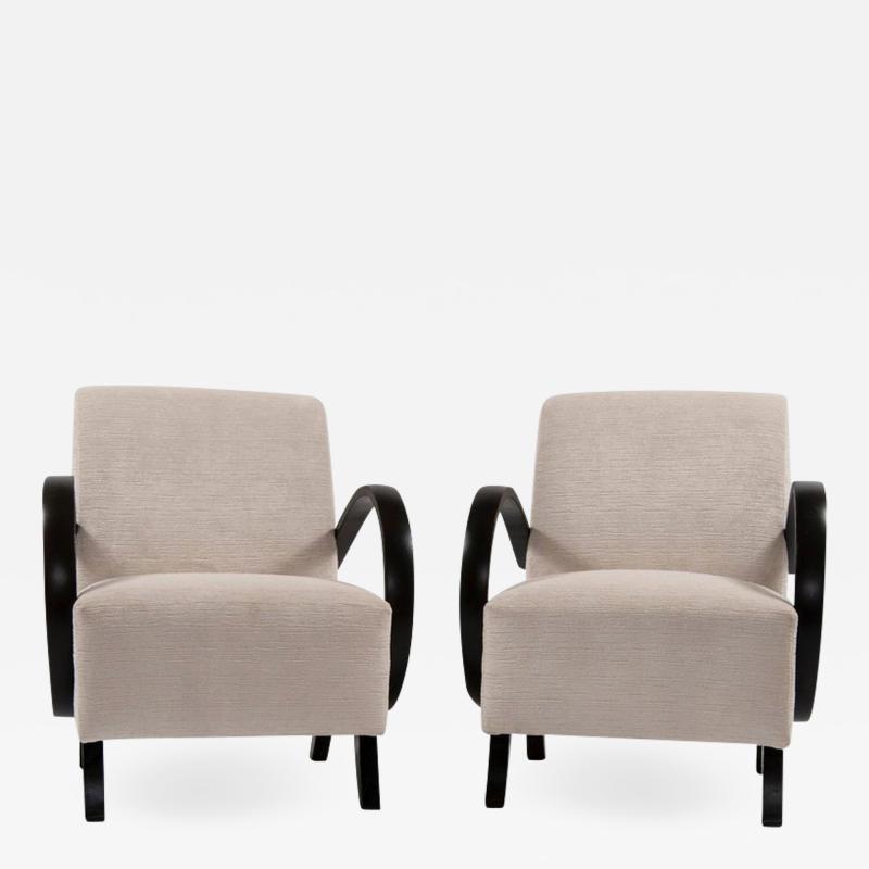 Jindrich Halabala Pair of Jindrich Halabala Lounge Chairs 1930s