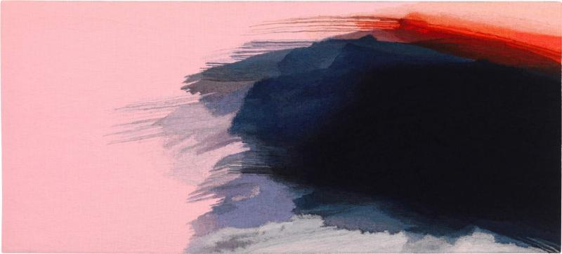 Jo Barker Fleeting Glimpse contemporary abstract tapestry by Jo Barker