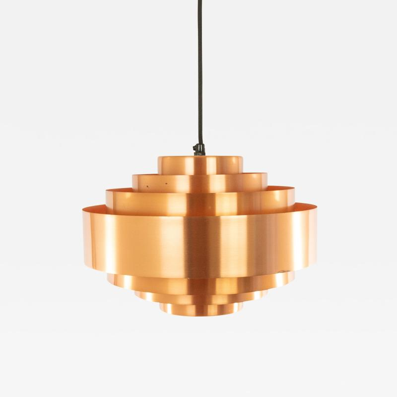 Jo Hammerborg Copper Ultra pendant by Jo Hammerborg for Fog M rup 1960s
