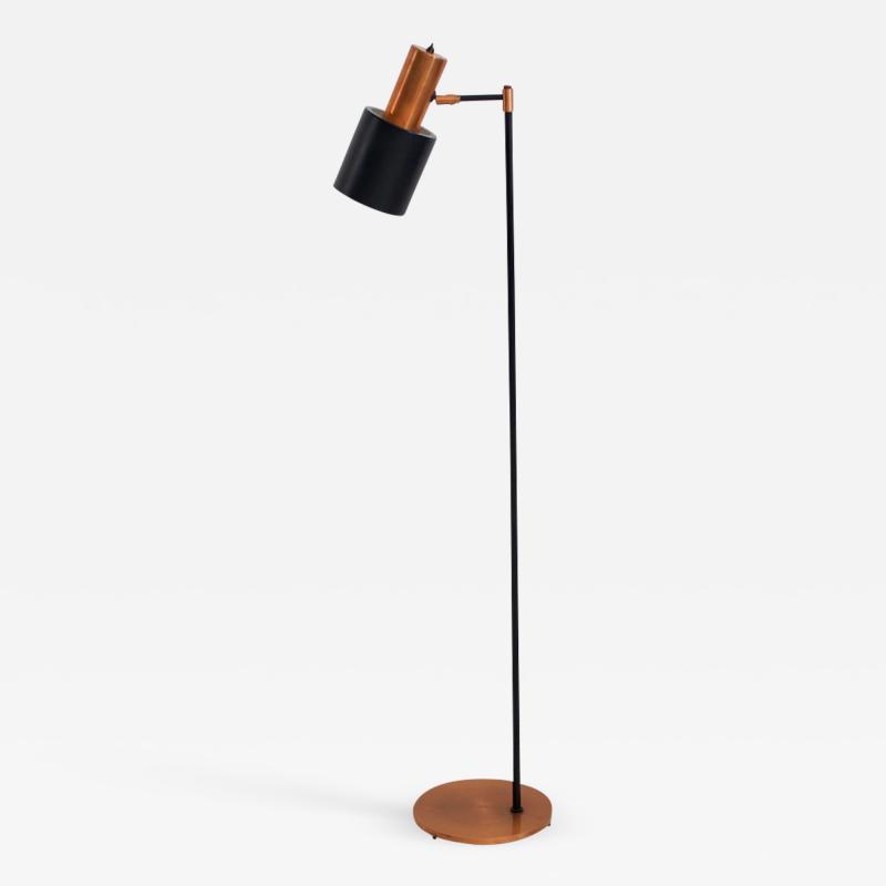 Jo Hammerborg Studio Floor Lamp in Black and Copper by Jo Hammerborg for Fog M rup