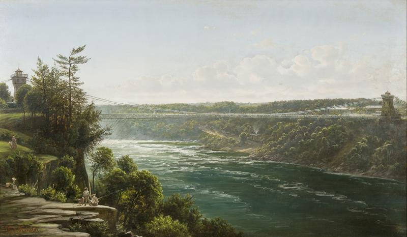 Joachim Ferdinand Richardt Suspension Bridge over the Niagara River