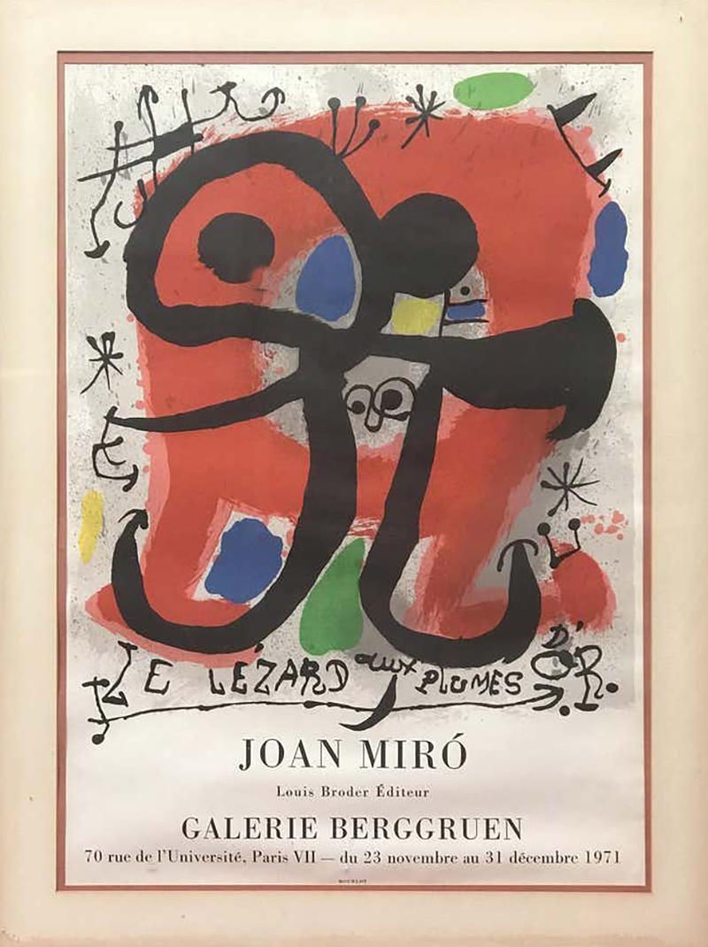 Joan Mir Le Lezard a Plumes dOr Poster by Joan Miro