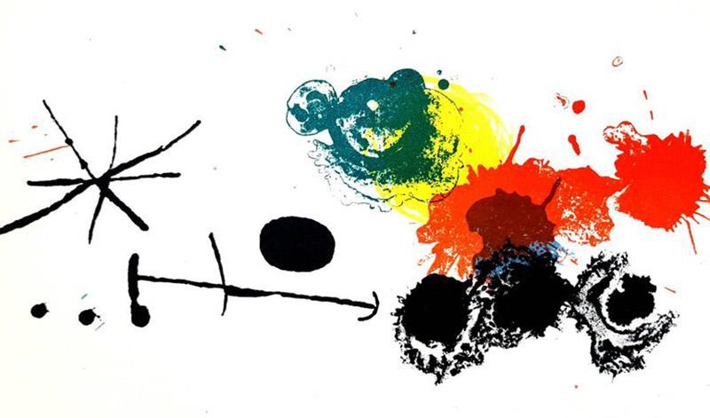 Joan Miro Joan Miro Abstract Composition Original Lithograph 1964