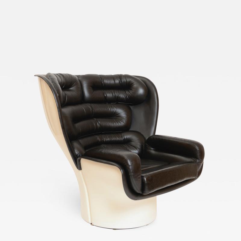 Joe Colombo Black and White Elda Chair by Joe Colombo Italy c 1960