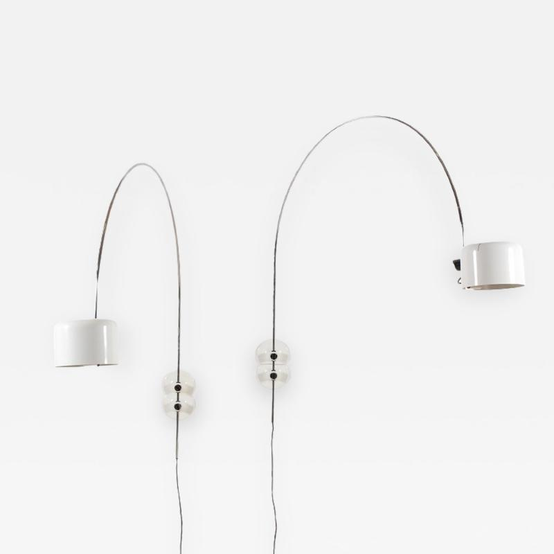 Joe Colombo Pair of Coup Wall Lights by Joe Colombo 1967