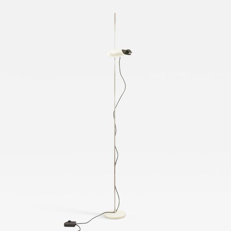 Joe Colombo White adjustable floor lamp Model 626 by Joe Colombo for O Luce 1970s