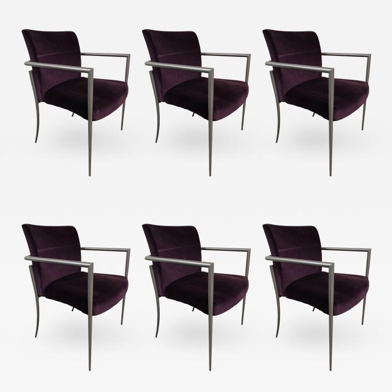 Joe Linda Ricchio Set of 6 Cortona Guest Staking Chairs by Joe Ricchio for HBF