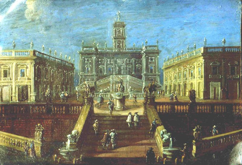 Johann Wilhelm Baur View of the Campidoglio Rome