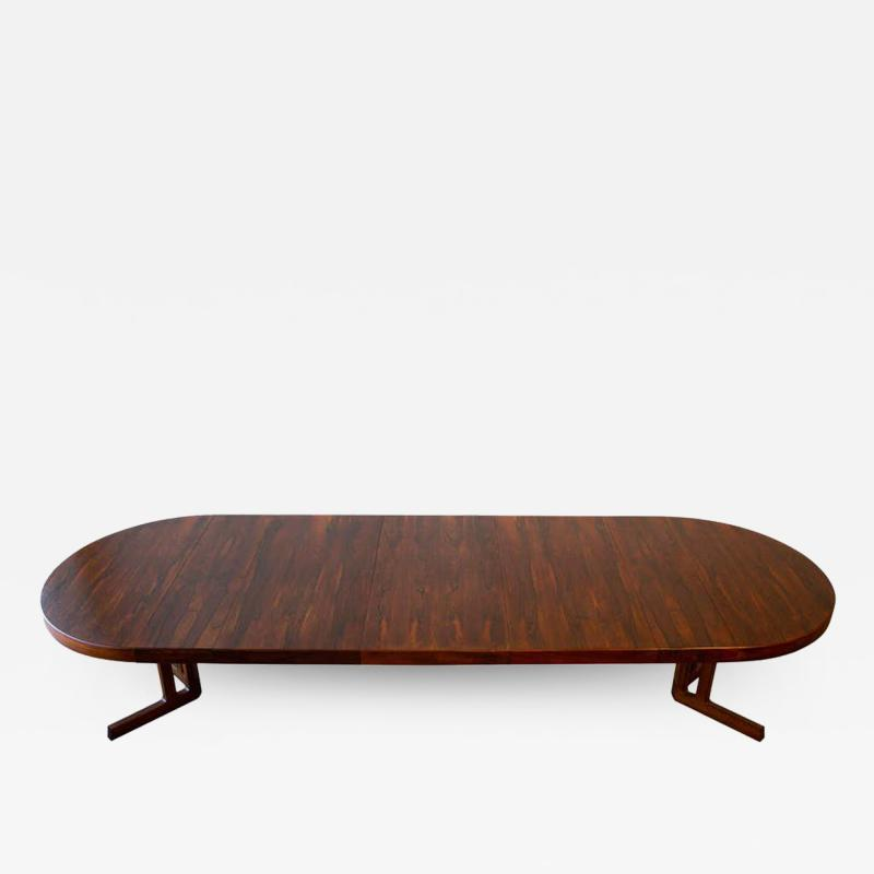 Johannes Andersen Johannes Andersen Rosewood Extension Dining Table Scandinavian Modern 1960s