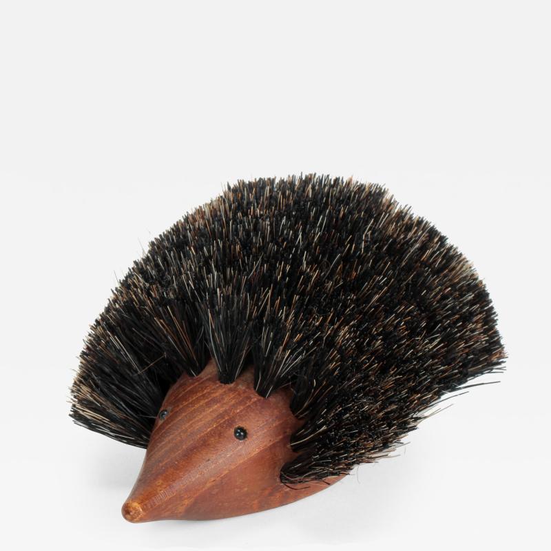 Johannesen teak hedgehog brush Denmark 60s