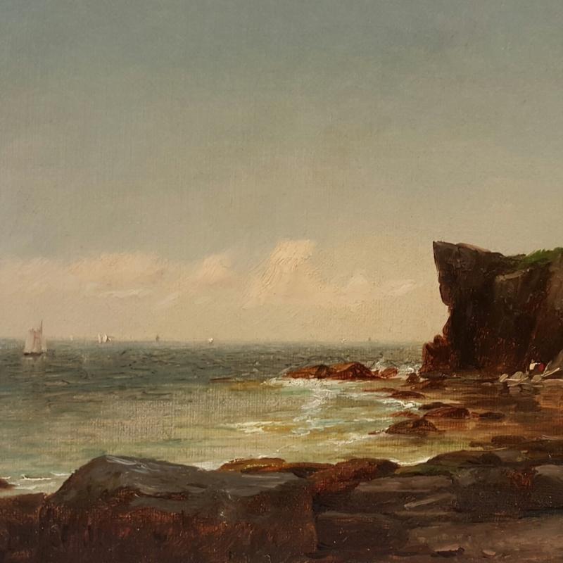 John Adams Parker Cliffs Along the Shore n d