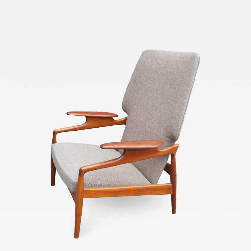 John Bone Reclining Teak Lounge Chair by John Bon