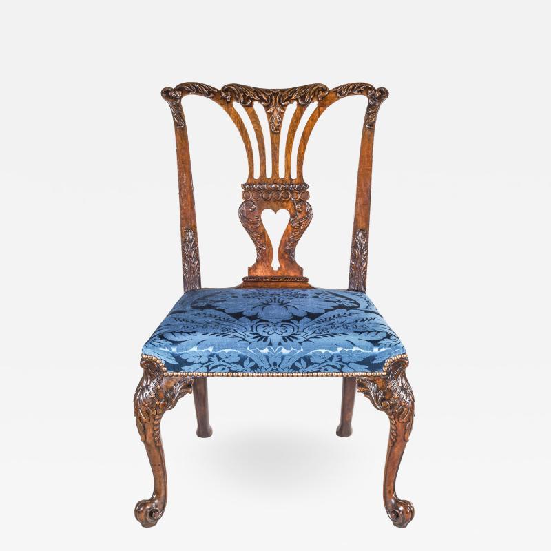 John Cobb Fine George II Chippendale Mahogany Side Chair