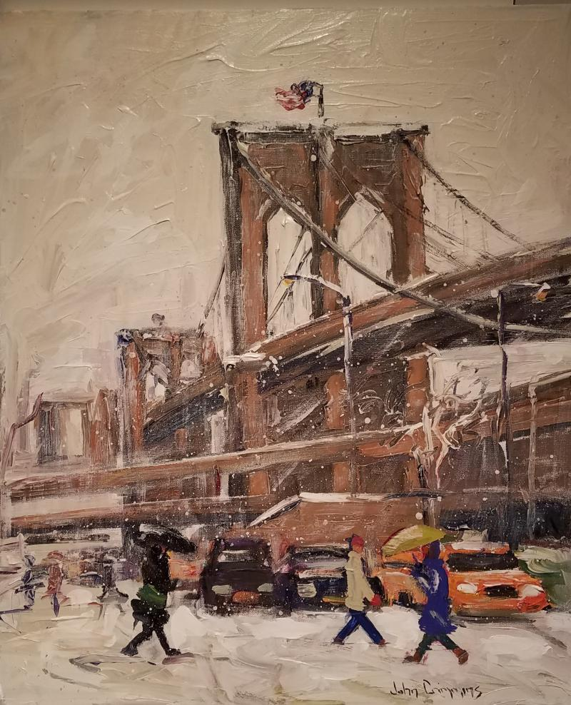 John Crimmins John Crimmins Painting Wintry Brooklyn
