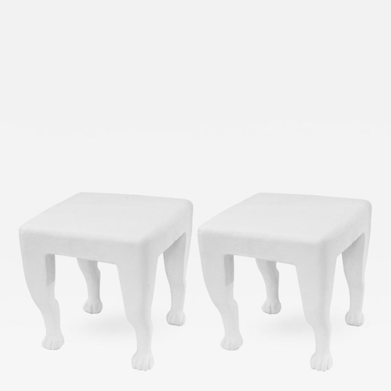 John Dickinson John Dickinson Pair of Rare and Important Etruscan End Tables 1980