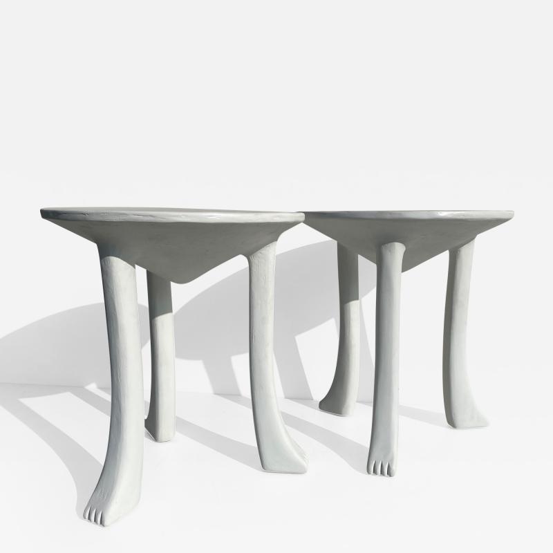 John Dickinson Pair Plaster African Tables