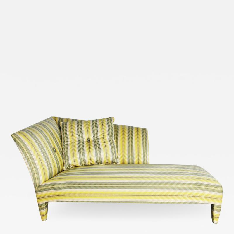 John Hutton Vintage donghia yellow stripe spirit chaise longue by john hutton