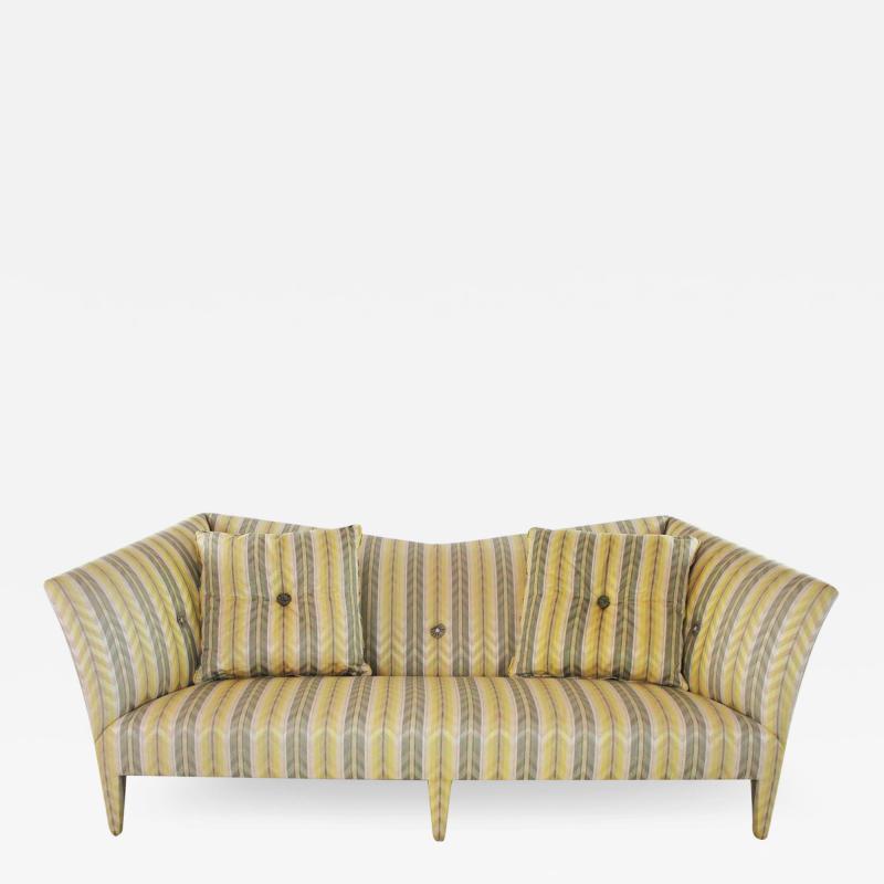 John Hutton Vintage donghia yellow stripe spirit sofa by john hutton