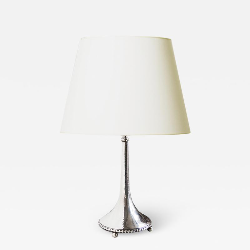 John K Anderson Fine Silver Arts and Crafts Table Lamp by K Andersson