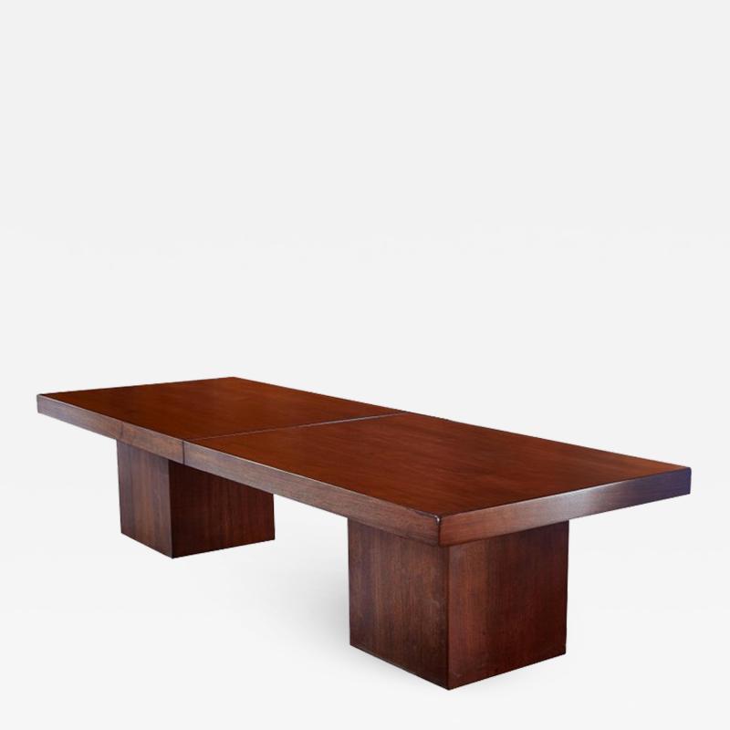 John Keal 1960s John Keal Expanding Walnut Coffee Table by Brown Saltman