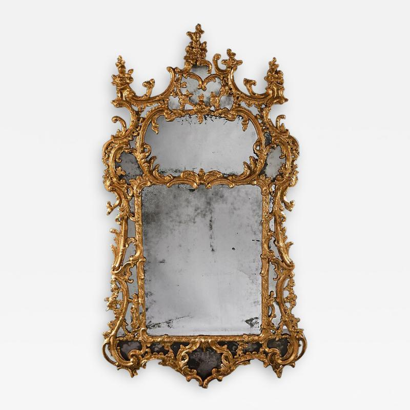 John Linnell EXCEPTIONAL MID 18TH CENTURY GEORGE II CARTON PIERRE GILT MIRROR