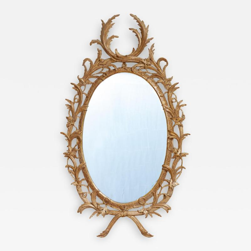 John Linnell Exceptional George III Oval Mirror